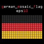 Mosaic GERMAN flag — Stock Vector