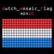 Mosaic DUTCH flag — Stock Vector