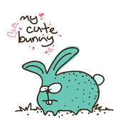 Lustige zeichentrickfigur kaninchen — Stockvektor