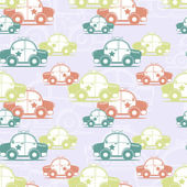 Police car seamless pattern — Stockvector