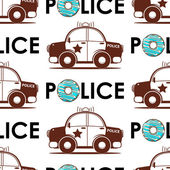 Police car seamless pattern — 图库矢量图片