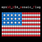Mosaic USA flag — Stock Vector