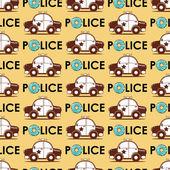 Polisen bil seamless mönster — Stockvektor