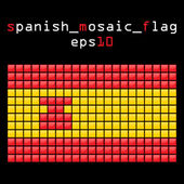 Mosaic SPANISH flag — Stock Vector