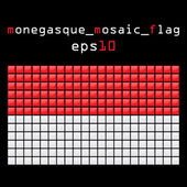 Mosaic MONEGASQUE flag — Stock Vector