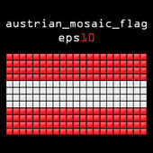 Mosaic AUSTRIAN flag — Stock Vector