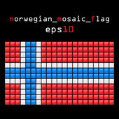 Mosaic NORWEGIAN flag — Stock Vector