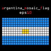 Mosaic ARGENTINA flag — Stock Vector