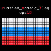 Mosaic RUSSIAN flag — Stock Vector