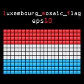 мозаика флаг люксембурга — Cтоковый вектор