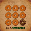 Vintage background with donuts - Stockvectorbeeld