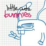 Funny cartoon bunny character — Stock Vector