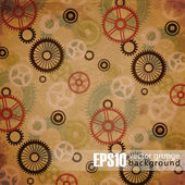 Vintage mechanical background — Stockvector
