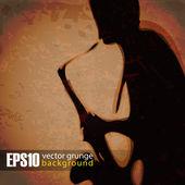 Vintage background saxophonist — Stock Vector