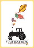 拖拉机和枫叶 — 图库矢量图片