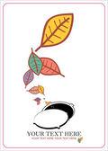 Abstraktní podzimní vektorové ilustrace s průvlakem a listovým. — Stock vektor