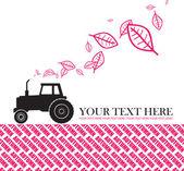 Traktor a listovým — Stock vektor
