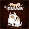 Halloween greeting card — Stock Vector #32798163