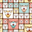 Seamless texture with funny cartoon deers. — Imagen vectorial