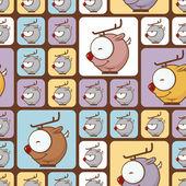 Naadloze textuur met grappige cartoon herten. — Stockvector
