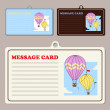 Stock Vector: Set of vector message cards