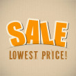 Big sale, letters cut out from paper — Image vectorielle