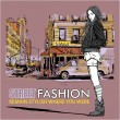 Fashion girl on a street background — Stock Vector #33294639