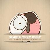 Paper cartoon sheep — Stock Vector