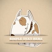 Paper cartoon doggy — Vector de stock