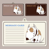 Set of vector message cards — Stock Vector