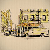 Vintage street background — Vetorial Stock