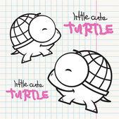 Ilustración vectorial con las tortugas de la historieta. — Vector de stock