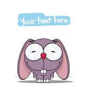 Vector illustration of cute cartoon bunny character — 图库矢量图片