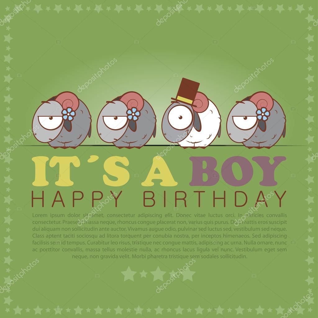 Auguri divertenti di buon compleanno con pecore simpatico