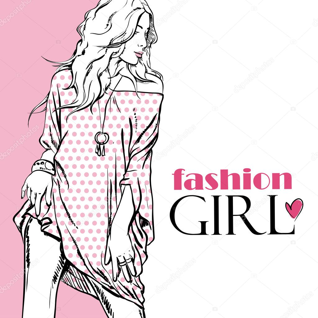 Sexy Fashion Girl On A White Background Stock Vector R Lion O 35788863