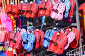 Colorful paddling shoes — Stock Photo