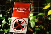 Dangerous Animal Sign — Stock Photo