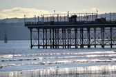 Seaside Pier Silhouette — Stock Photo
