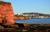 Torquay viewed from Red Cliffs of Preston Sands, Devon — Stock Photo