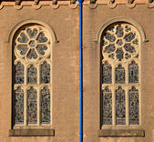 Decorative Church Windows — Stock Photo