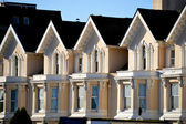 Roof peaks and bay windows — Stock Photo