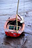 Barco na lama — Fotografia Stock