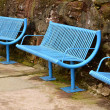 Blue harbourside seating — Stock Photo #18641825