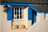Blue Shutters on Balcony — Stock Photo