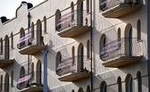English Riviera Balconies — Stock Photo