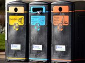 Rubbish bins in a row — Stock Photo