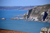 Blue sea at Ayrmer Cove — Stock Photo