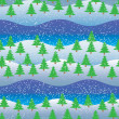 Royalty-Free Stock Vector Image: Background, seamless pattern, snowmans