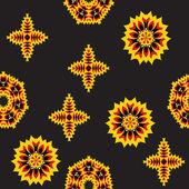 Bakgrund, gul-svarta blommor — Stockvektor