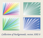 Collection of the backgrounds — Stock Vector